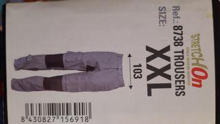 Pantalon trabajo 100% algodón Talla XXL