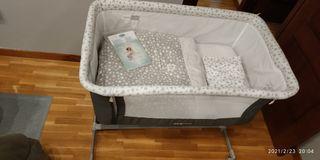 Minicuna colecho + colchón y almohada NUEVOS