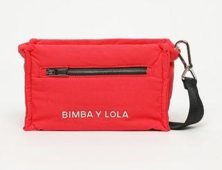 Bolso Bimba Y Lola rojo rectangular