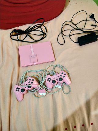 PS2 Slim Rosa SUPER PACK