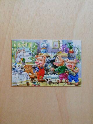 Mini Puzzle Tres Cerditos