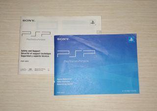 Manuales PSP 3000 americana