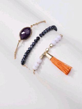 Brand new pack of 3 bracelets.