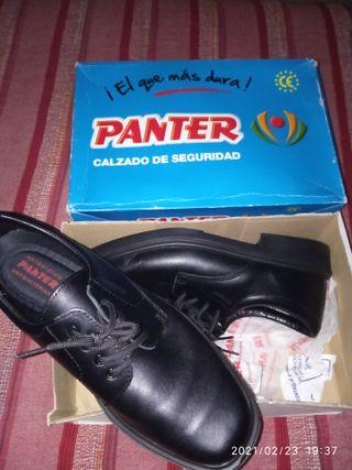 Zapato seguridad de piel