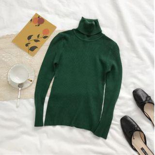 Jersey Canalé Cuello Alto - Verde
