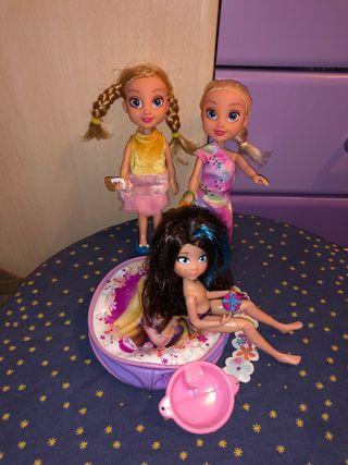 Mini lote de muñecas para niñas más bolsito disney