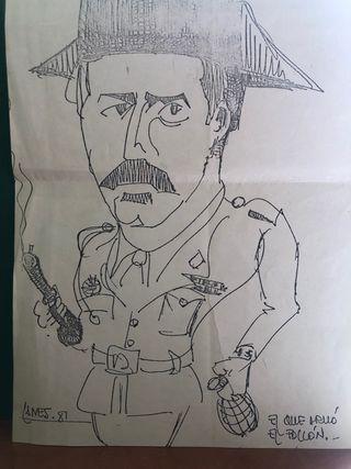 1981: CARICATURA DE TEJERO DEL AÑO 1981