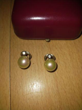 Pendientes de perlas Majorica de plata