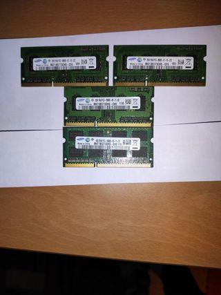Memorias RAM marca Samsung para portátil