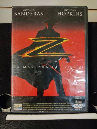 La máscara del Zorro. DVD. Película.