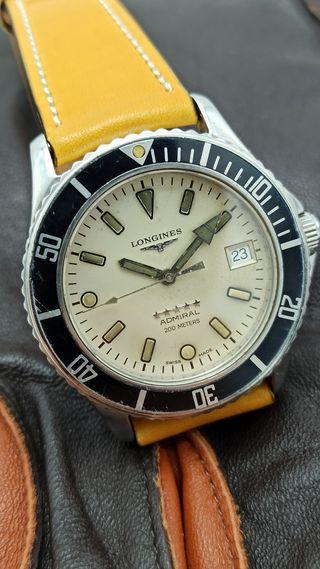 reloj vintage diver 200m longines automático