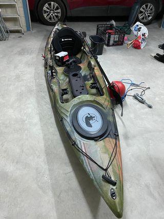 Kayak alboran con sonda lowrance