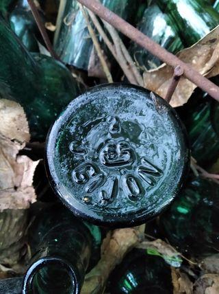 botellas de sidra antiguas