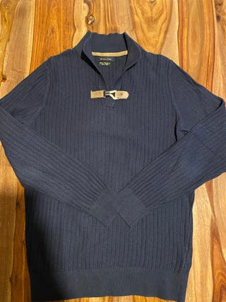 Jersey azul marino Massimo Dutti