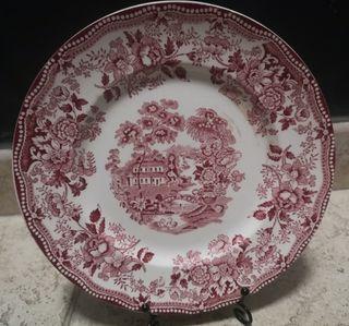 6 platos de porcelana inglesa Red Tonquin