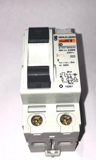 interruptor magnetotermico y diferencial