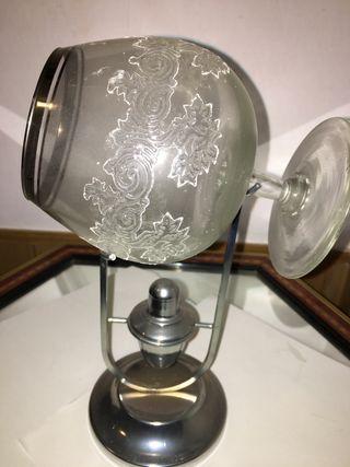 Copa de coñac antigua con calentador