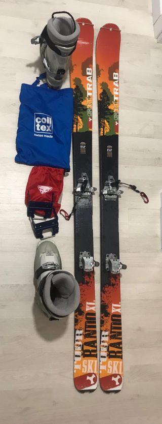 Botas y esquís de travesía