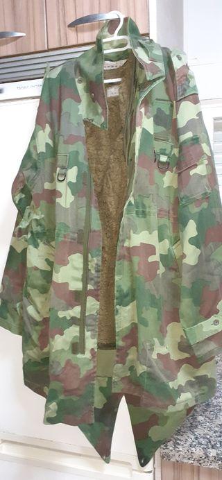 abrigo militar parka ejército serbio camo