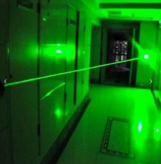 láser verde potente