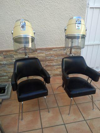 Secadores de peluquería con sillón incluido
