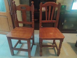 2 sillas de madera