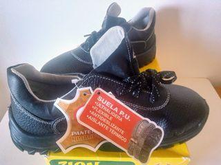 Zapatos de seguridad de piel Nº 42 (Nuevos)