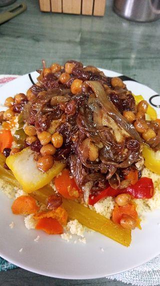 Cous Cous de verdura pollo y cordero
