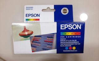 Cartucho tinta tricolor Epson S020089 S020191