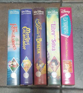 5 películas VHS clásicos Disney (5€ todas)