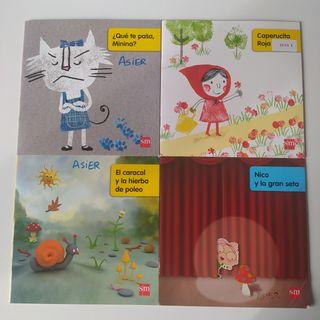 Lote 8 libros colorines SM 1 y 2 primaria