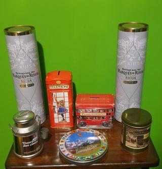 7 cajas de lata (5€ todas)