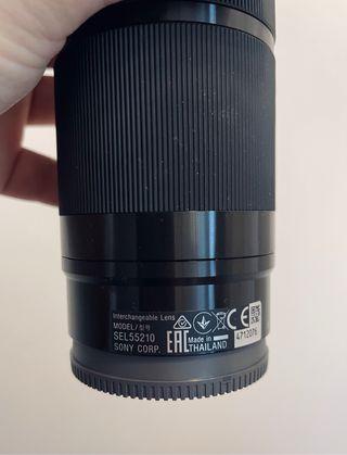 Teleobjetivo Objetivo Sony SEL55210