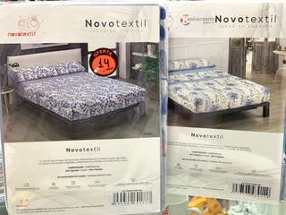 Juego de sabana novo textil para cama de 90cm.