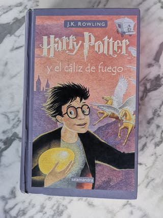 libro Harry Potter y el caliz de fuego