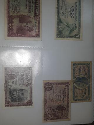 Lote billete pesetas