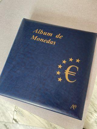 Álbum colección euros de 12 paises
