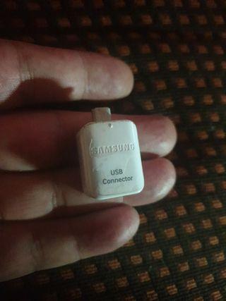 Adaptador Micro USB OTG SAMSUNG ORIGINAL BLANCO