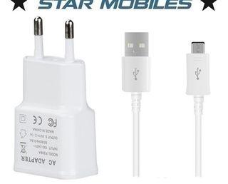 -- CARGADOR CABLE ENCHUFE MICRO USB NUEVO