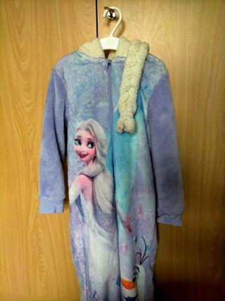 Pijama mono polar Frozen talla 122.
