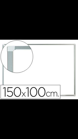 Pizarra melaminada blanca marcó aluminio 100x150 c