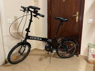Bicicleta plegable WST negra