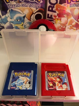 Cartuchos pokemon rojo y azul, originales!