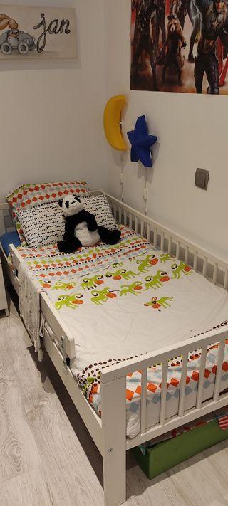Cama Ikea infantil completa (70x160)