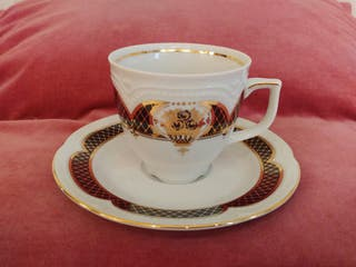Juego de té porcelana alemana Graf von Henneberg