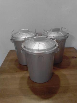 cubo basura 7 litros plateado