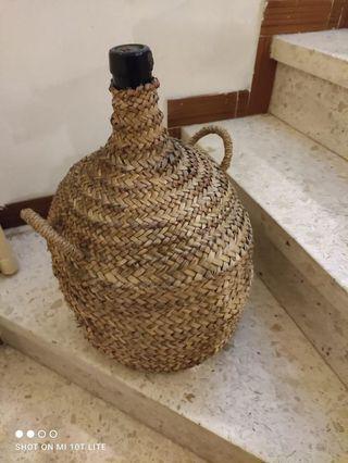 Garrafa antigua de Vidrio