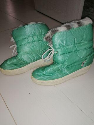 botas nieve vintage