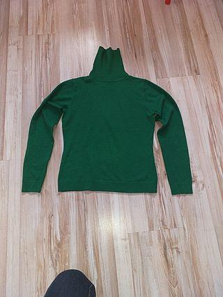 jersey fino de cuello alto