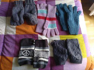 guantes lana y mitoned